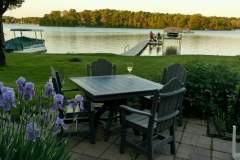Lakeside Dining Daisy Charcoal and Patriot