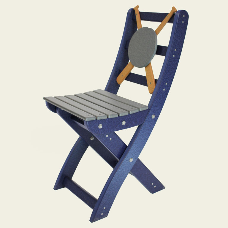 Gossamer Folding Chair (with Baseball Accent) - EM15