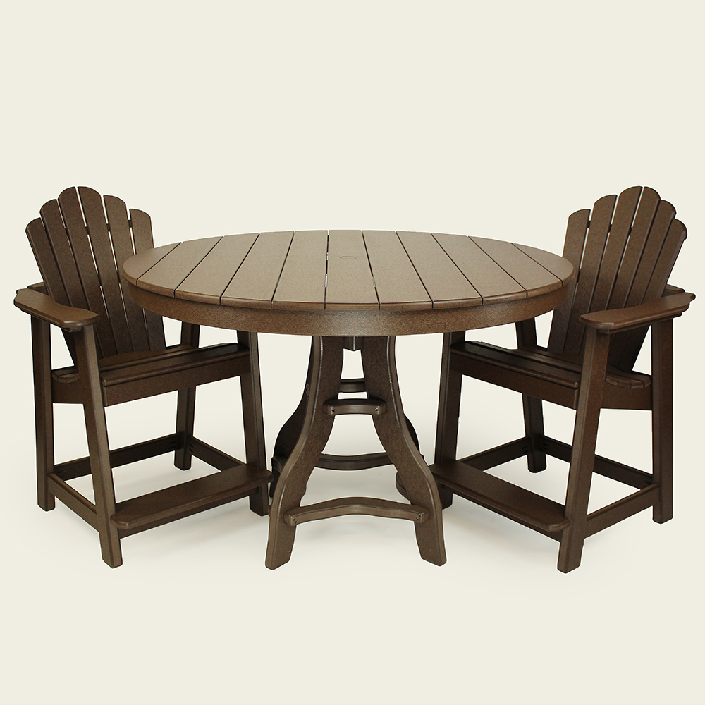 60 Inch Square Pedestal Table: The Amish Craftsmen Guild II