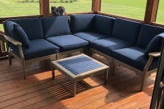 Relaxational Patriot Blue Sectional