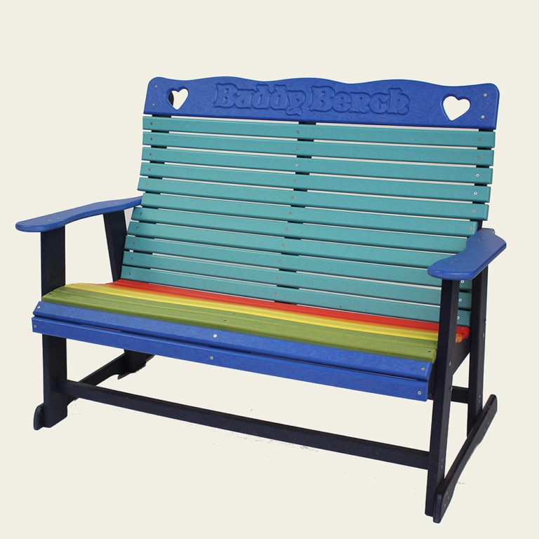 Buddy Bench Charm Double Stationary Bench ABCx4