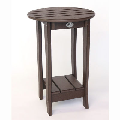 Charm 29 Inch Balcony Accent Table With Shelf ABC163