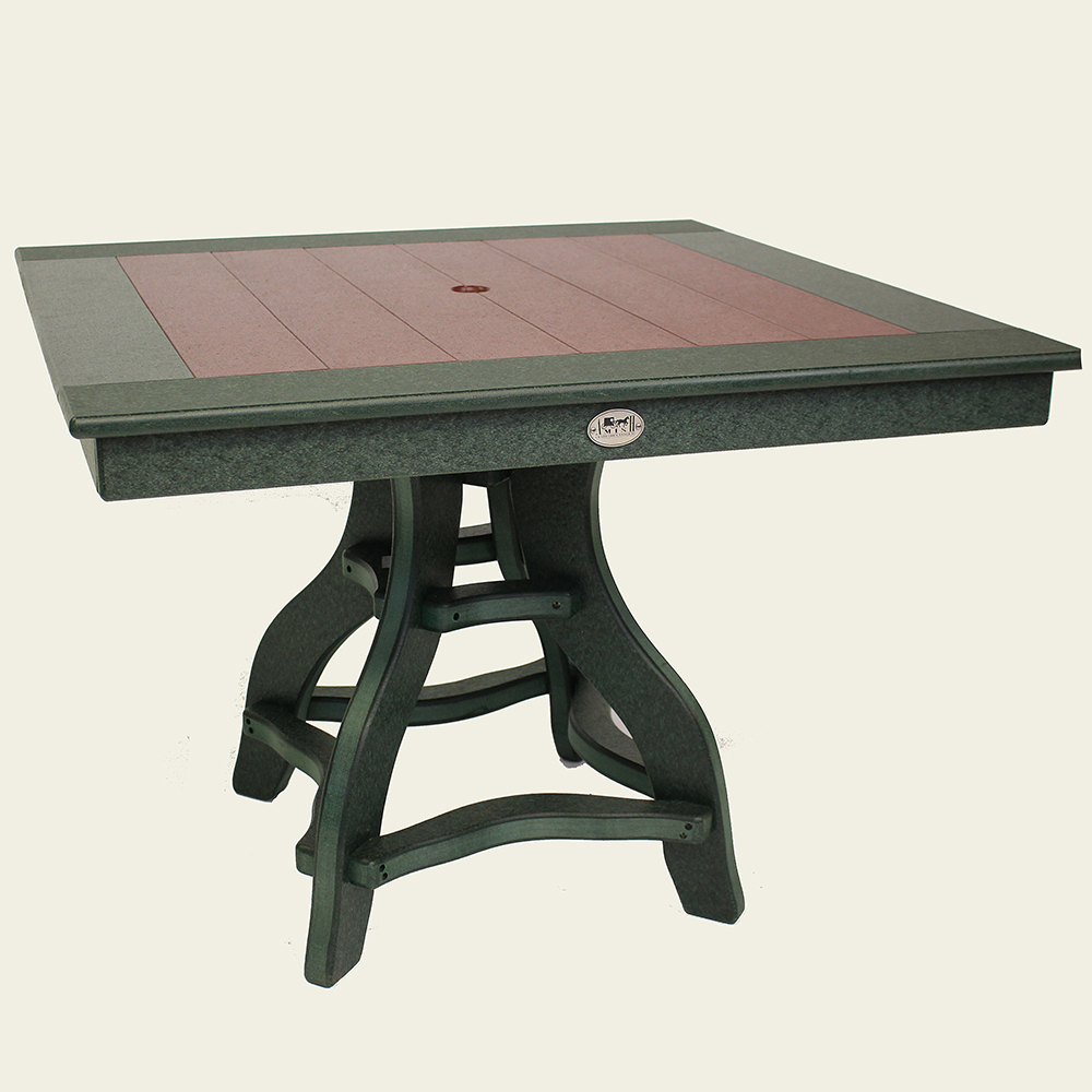 Square Dining Height 44 Inch Table With Pedestal Base Jh319