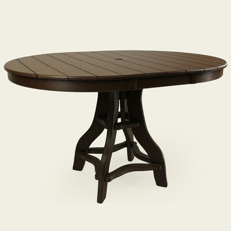 Deacon's Balcony Height 44x60 Inch Oval Pedestal Table - JH309