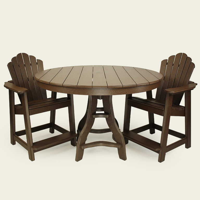 Deacon's Balcony Height Round 48 Inch Pedestal Table - JH309