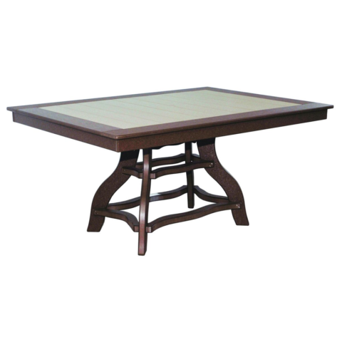 44 x 60 inch Arrtisan Pedestal Dining Height Table